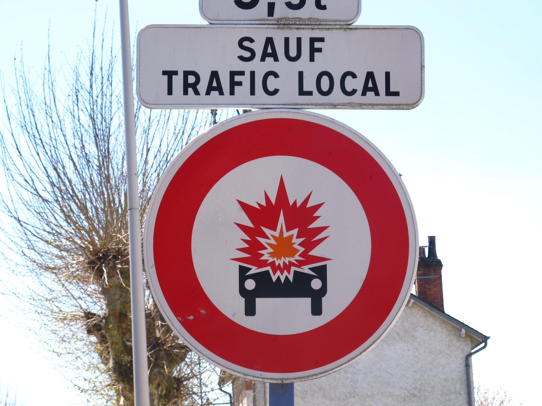 Verboden voor ontploffende auto's